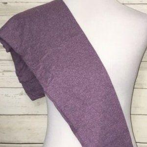 Heathered Purple Leggings OS